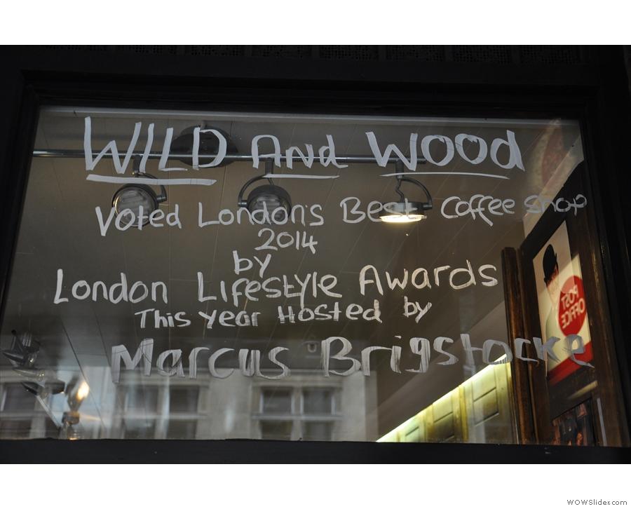 The award-winning Wild & Wood.