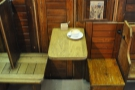 All the original wooden fittings, seats and tables were brought over from the old shop.