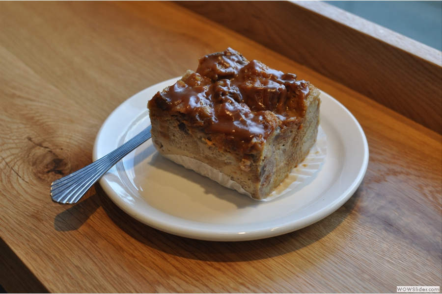 A slice of the sticky bun bread pudding (again, Back Bay)