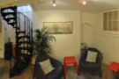 Another panorama of the basement, this time looking back towards the stairs.