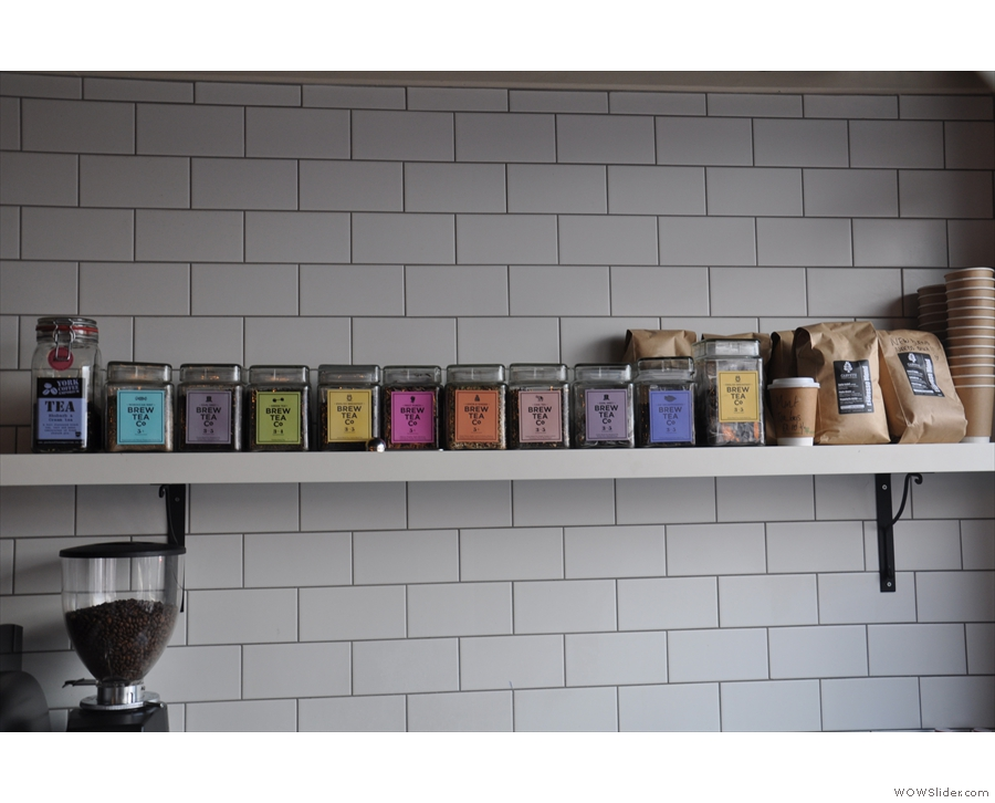 There's also lots of loose-leaf tea from Brew Tea Co.