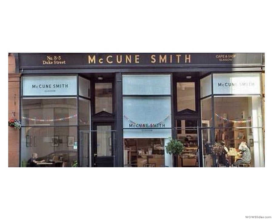 Glasgow will also be represented by coffee shop McCune Smith...