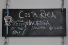 Filter of the day, a Costa Rica natural, which was also the guest espresso.