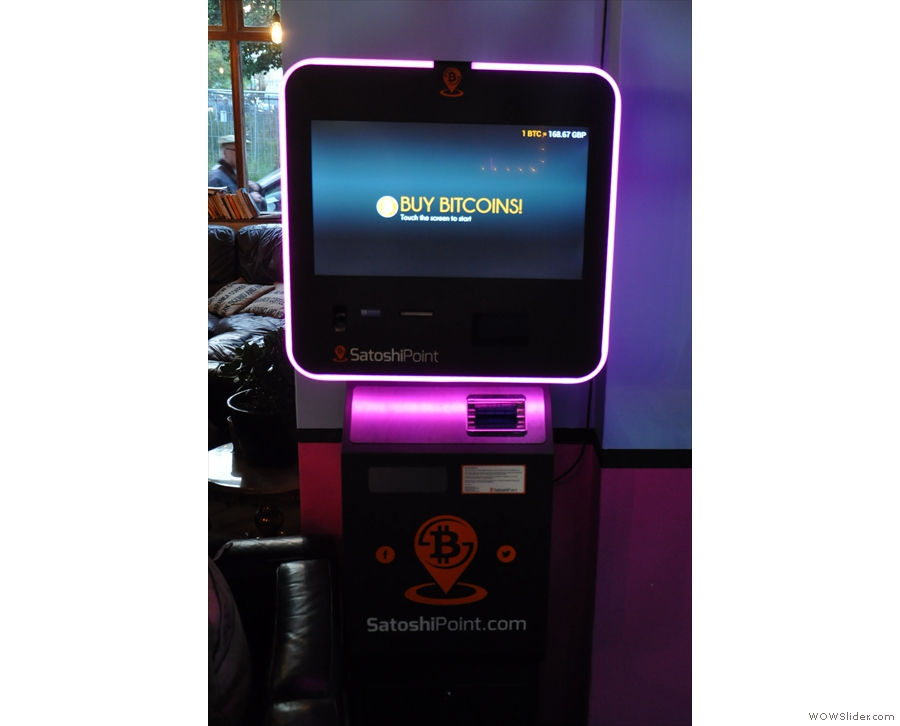 I don't think I've ever seen a bitcoin machine before. Jonestown takes bitcoins, by the way.