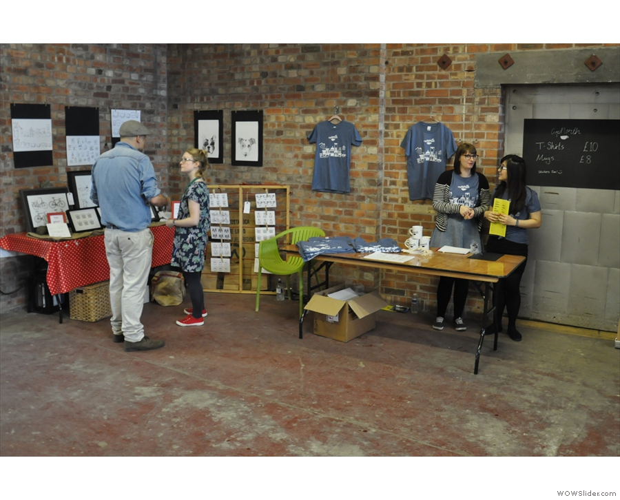 Last year, Cup North was arranged along two corridors, starting with the merchandising stall.