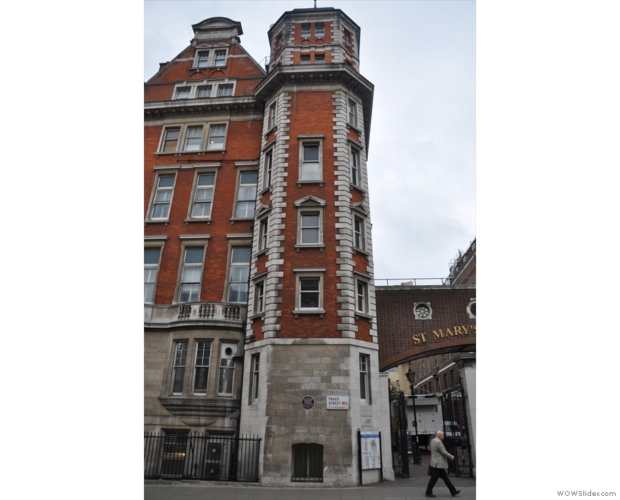 ... where, in a room in this tower, Alexander Fleming discovered penicillin (I never knew that).