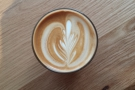 The instagram shot shows off the latte art to good effect.