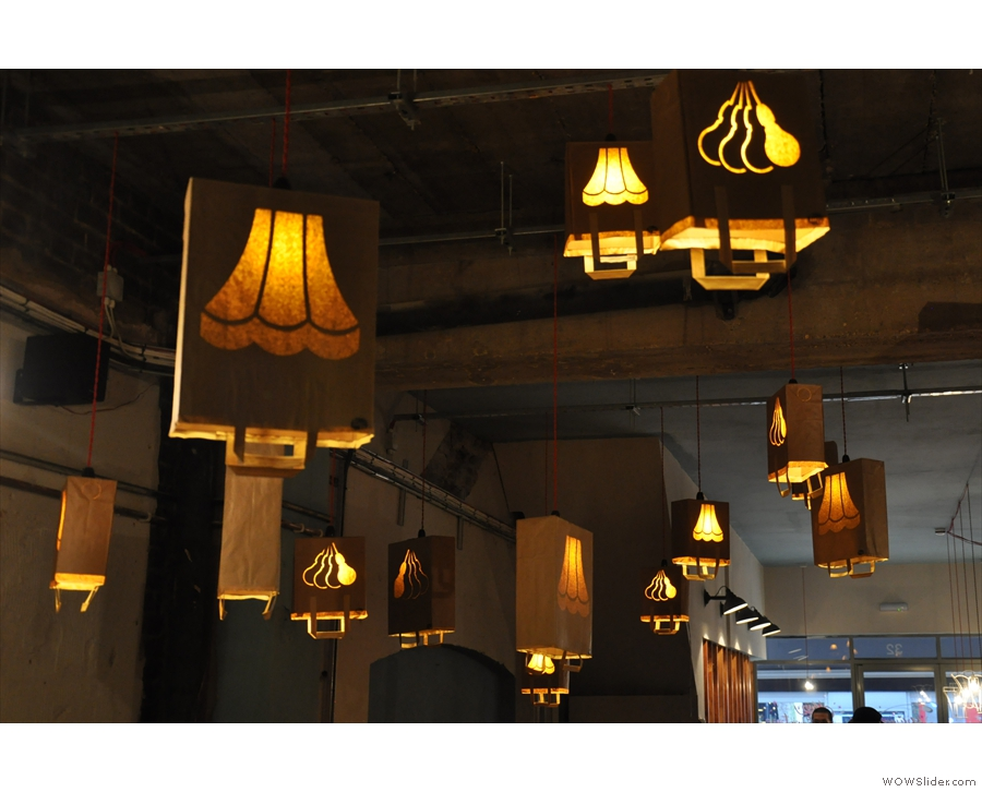 January: paper bags as light-shades, anyone? Artisan's Ealing branch.