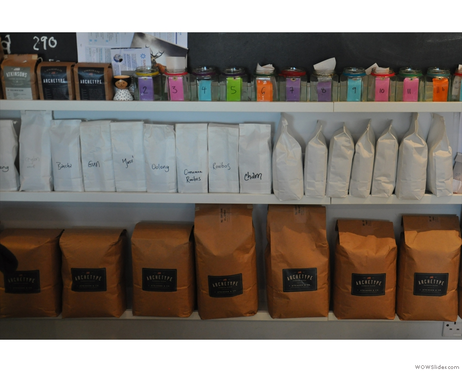 So, who's the coffee from? Peek behind the counter... It's J Atkinson & Co's Archetype blend!