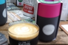 My first coffee of the day! In a subplot, KeepCup and Frank Green square off on the stand...