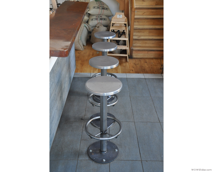 I really like the metal stools as well.