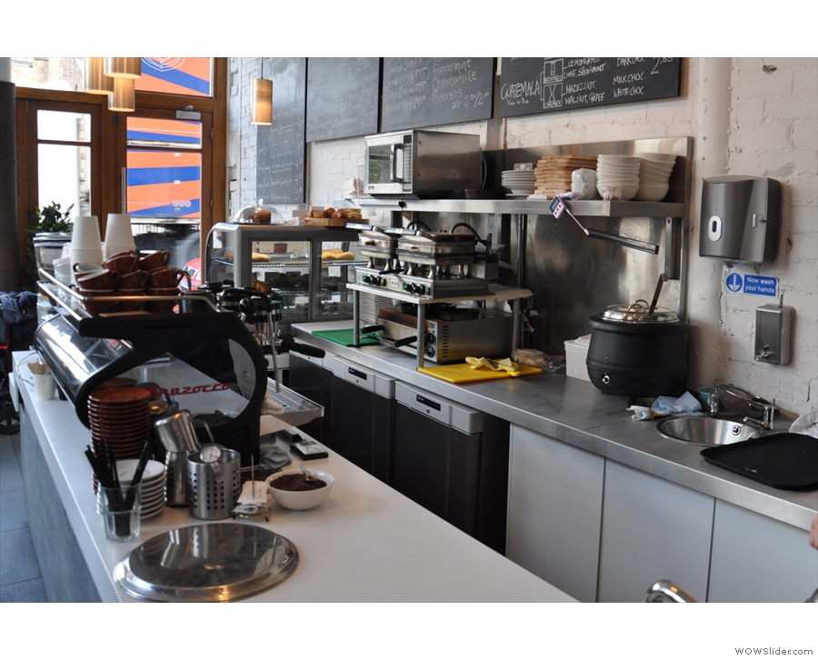 Avenue Coffee has a decent range of food, all prepared on site behind counter.