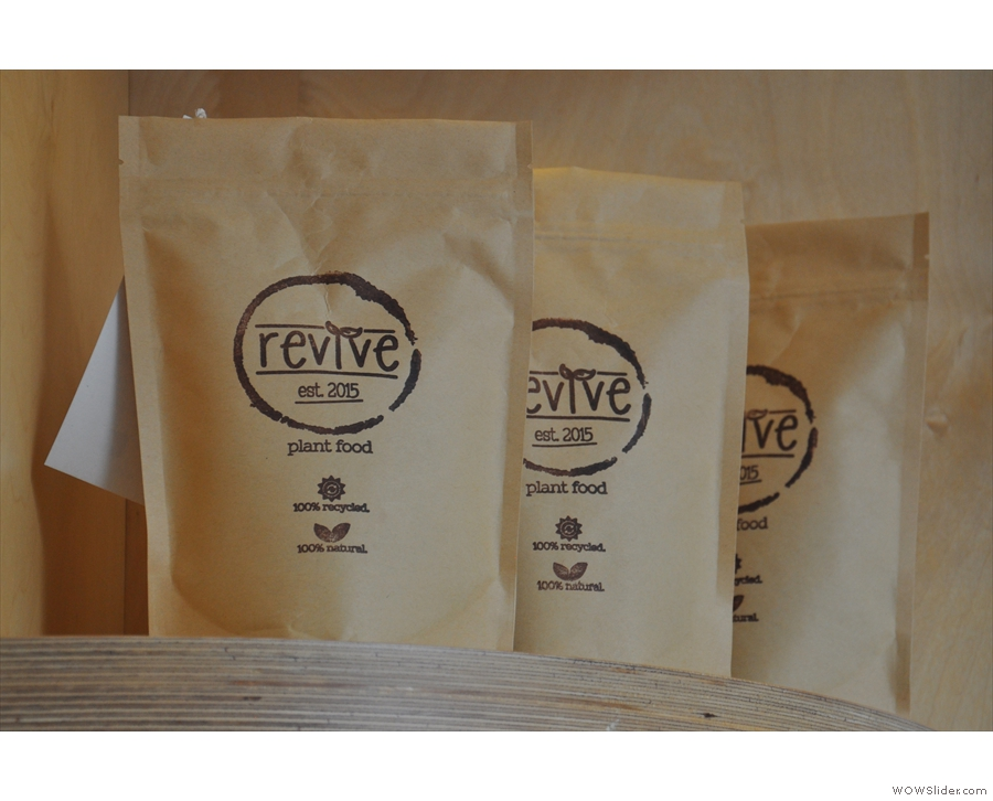 Revive is a Glasgow-based initiative to recycle old coffee grounds into plant food.