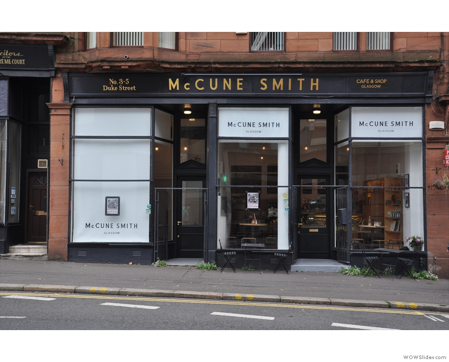 McCune Smith, on a surprisingly steep gradient at the top of Glasgow's Duke Street.