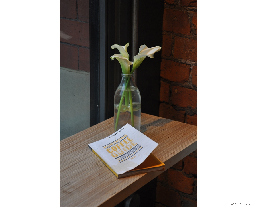 Grindsmith is full of lovely little touches, such as these flowers on the window-bar...