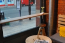 ... with an old spool for a table and the other window-bar.