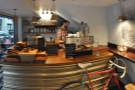 Stepping inside, a panorama of the counter on the left-hand side.