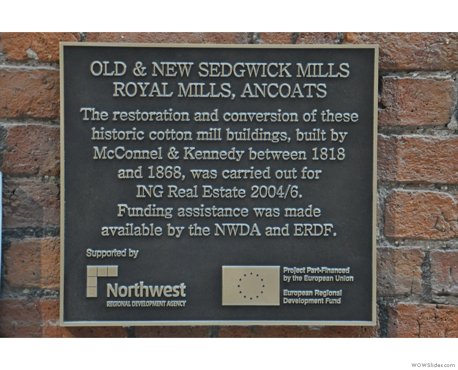 This handy plaque also gives you details of the site's history. More of this sort of thing  later.