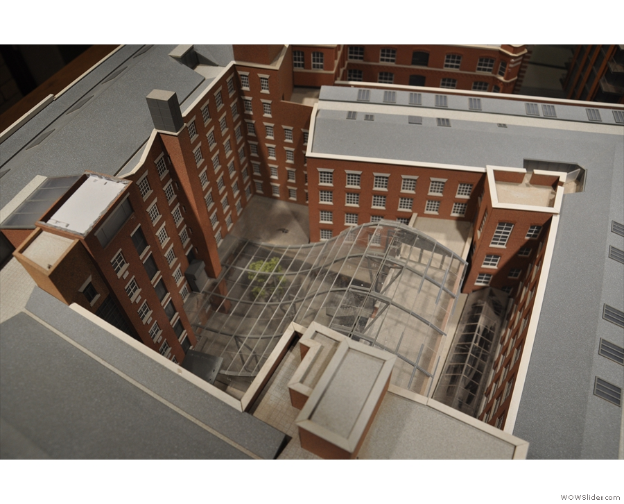 ... while Ancoats, as seen from here, is on the far side of the courtyard.