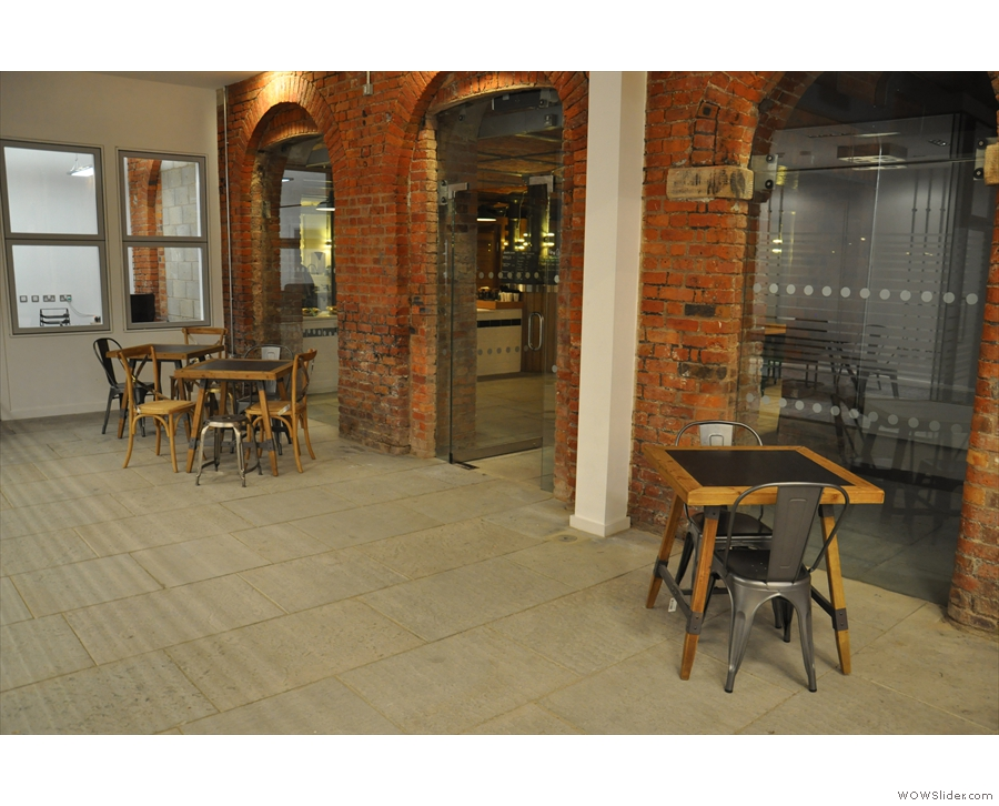 Not technically Ancoats, you can sit out here if you like. The door is between the tables.