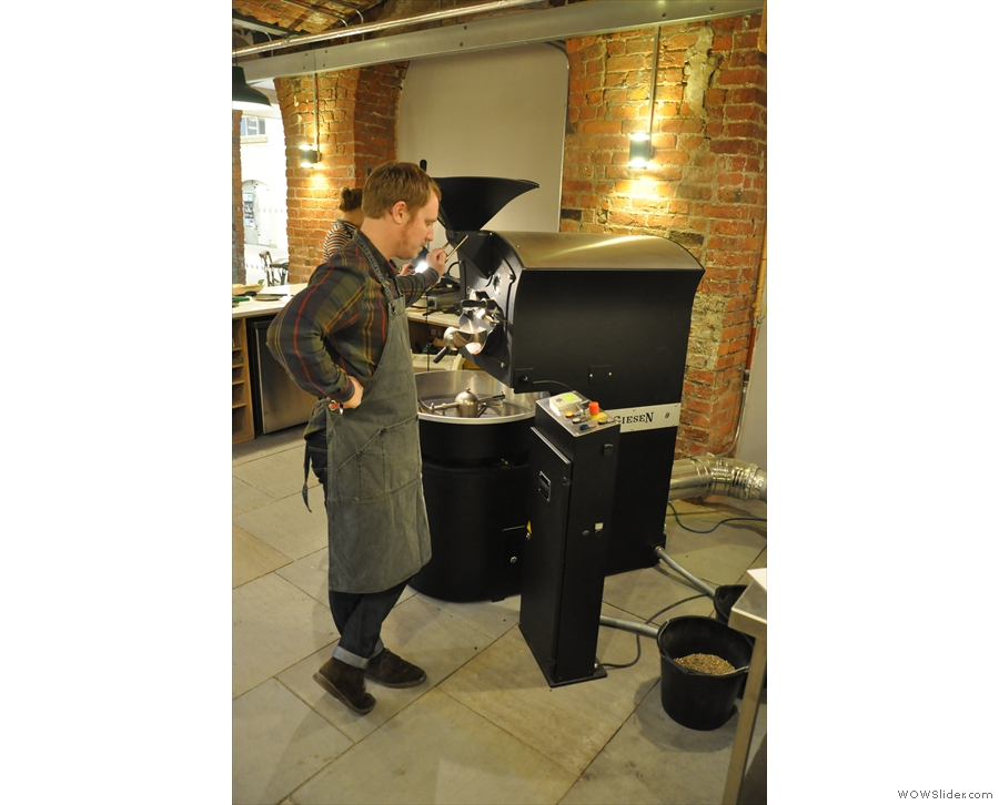 A man and his roaster. Or is that a roaster, and his roaster? Confusing langauge, English.