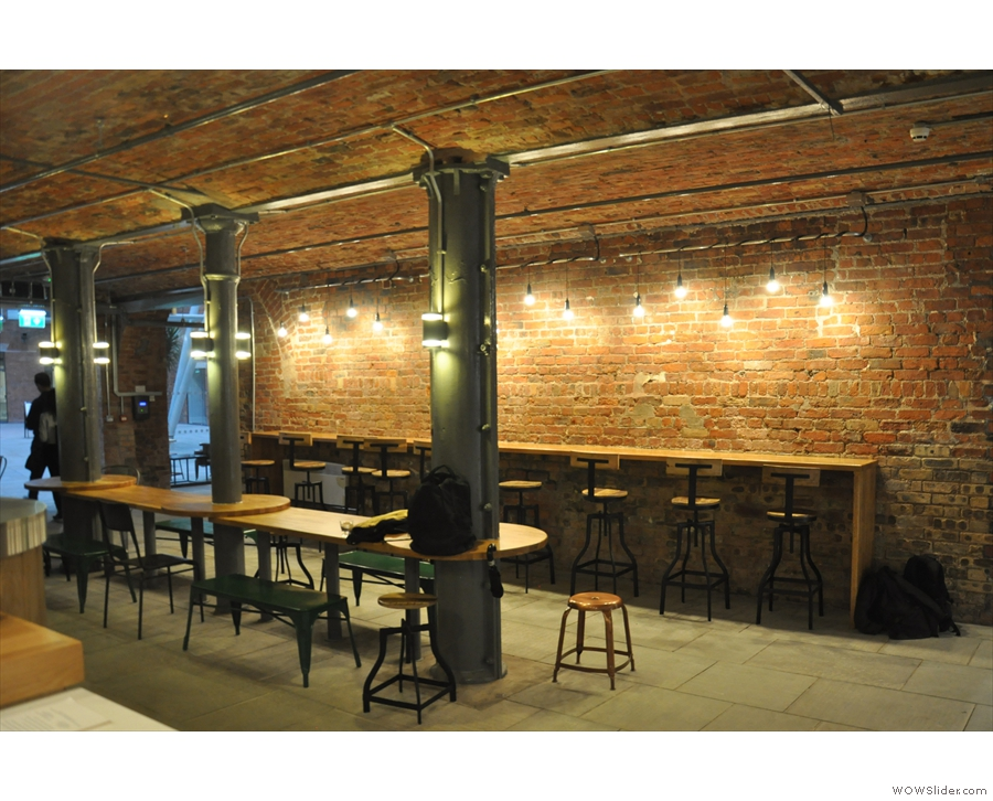 I was particularly taken the long bar against the back wall (to your right as you enter).
