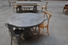 ... and these two free-standing tables a little way into the courtyard.