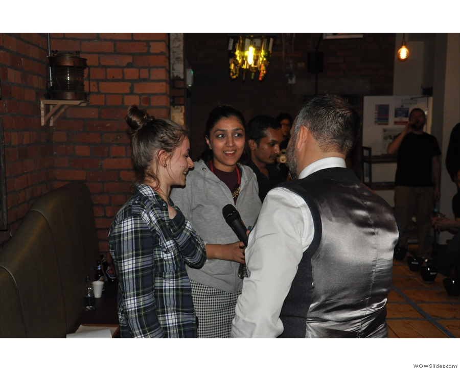 Rob interviews Katelyn (second) and Sonali (third)...