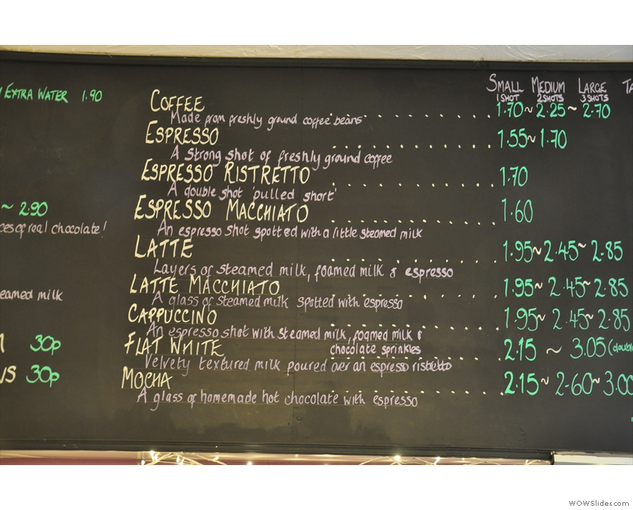 The changes extend to the coffee menu, where the various sizes of each drink...