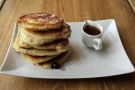 My friend Steve had American blueberry pancakes (also from the breakfast menu)...
