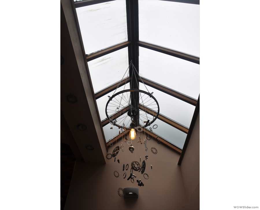 As well as the light from the windows at the front, there's this skylight above the stairs.