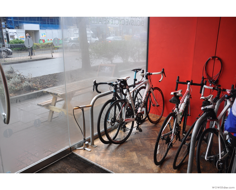 Meanwhile, the window to the left is given over to bike storage space, very popular...