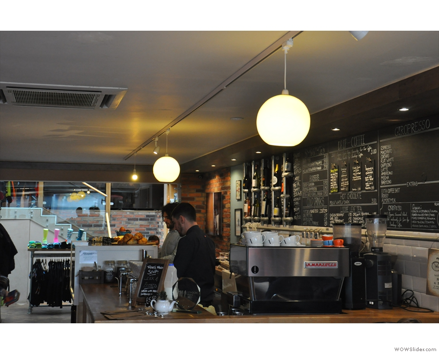 ... and a view of the counter itself on the right.