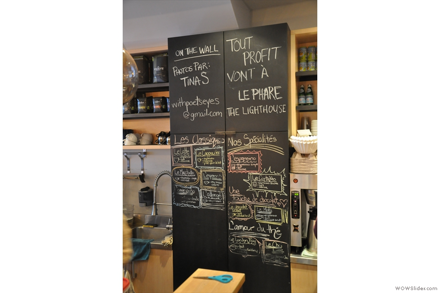 The chalkboard explains what it's all about... I think... (hopefully your French is better than mine!)