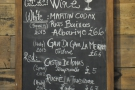 The wine list.