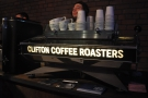 Staying with the 'C's, it's Clifton Coffee Roasters &  a super-sexy Kees van der Westen.
