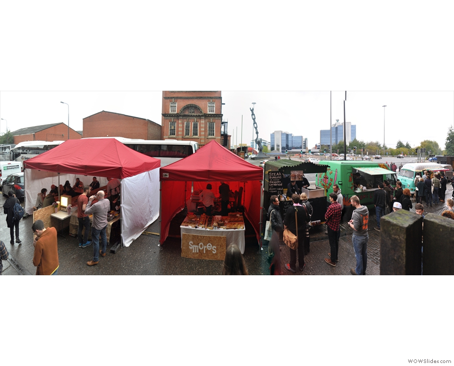 It wasn't all coffee at Cup North. There was, for the second year running, street food.