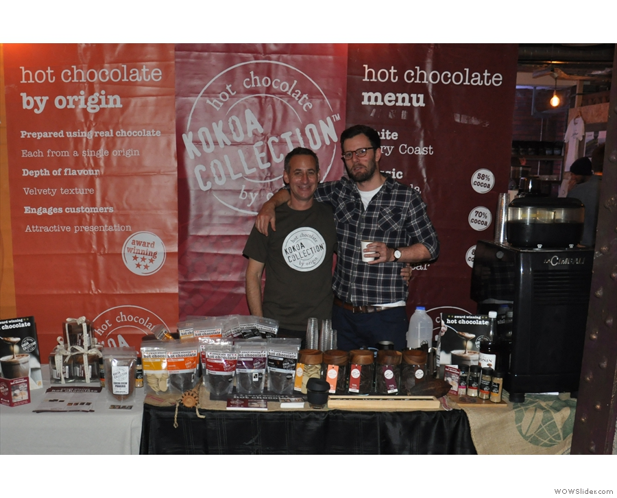 ... purveyors of fine, single-origin hot chocolate. But, wait, who's that with Paul?