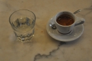 And finally, my lovely single-origin espresso. With a glass of water, of course.