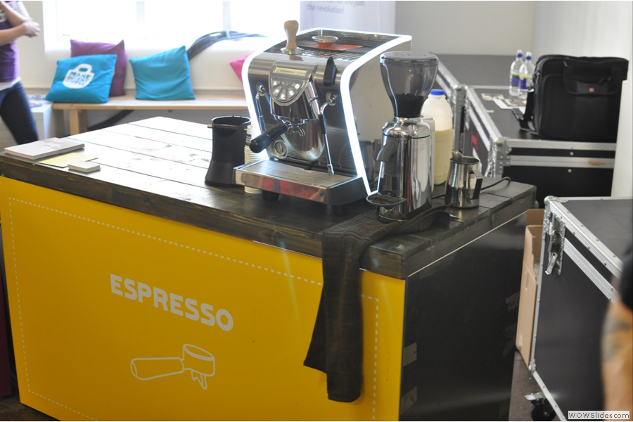 The espresso station, where I spent most of my time...