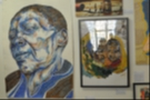 This is also where you can find the Cafe Art on the opposite wall. Here is a sample of the work on display.