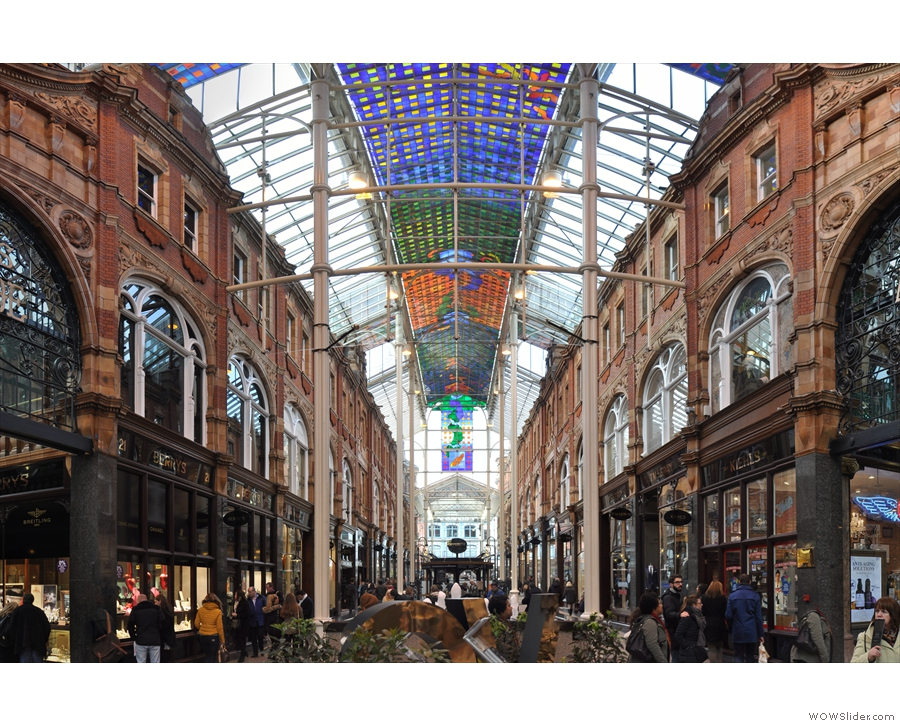 April: the soaring glass ceilings of the Victoria Quarter in Leeds, home of Opposite.