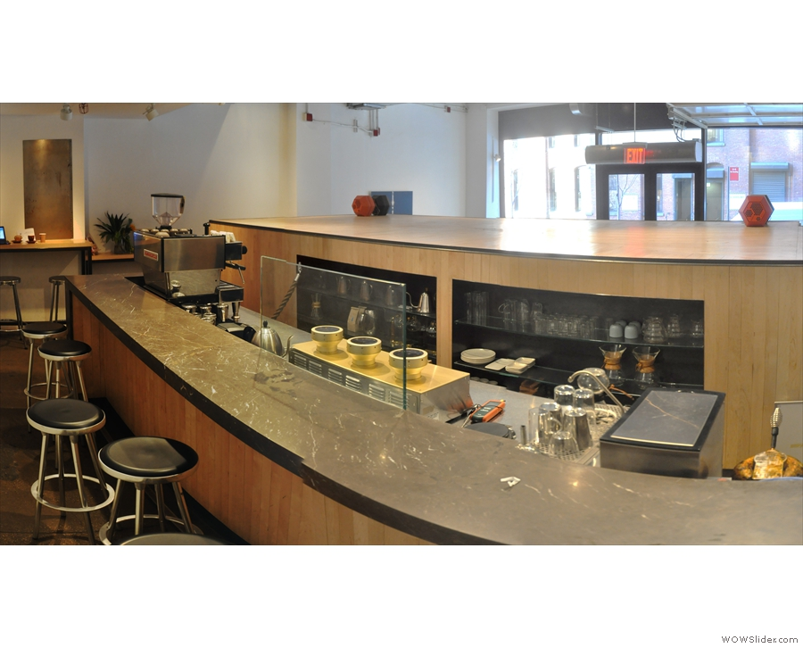 Although Blue Bottle wasn't serving up here during my visit, you could still sit up here.