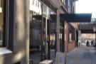 Blue Bottle Coffee, on New York's W15th St, in the Milk Building, opposite Chelsea Market...