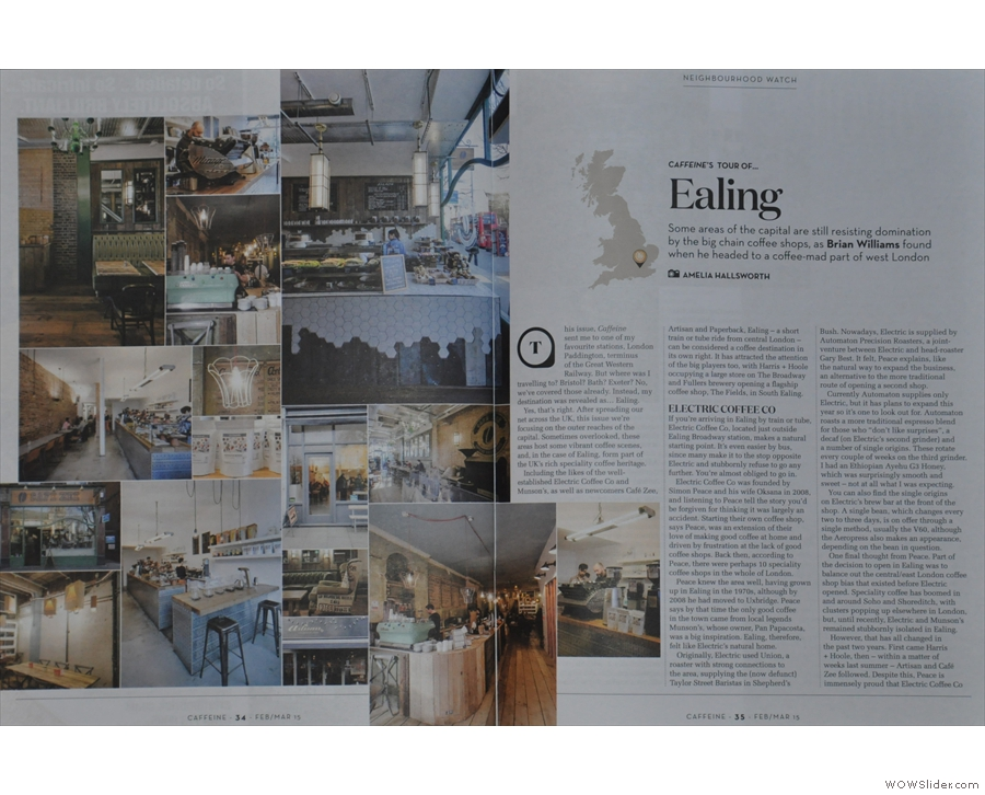 Elsewhere in Issue 13, Ameila & I packed our bags to take the long, arduous trip to... Ealing!