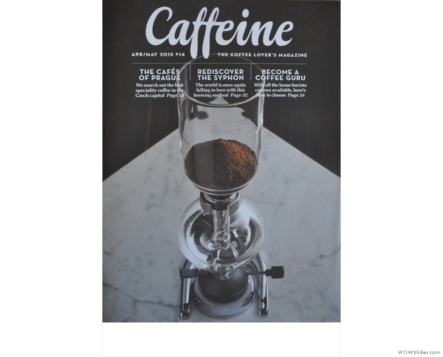 Issue 14: Caffeine Magazine has another great cover, simplicity itself from Gary Smith.
