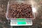 These are my On Balance Envy Scales, useful for measuring the coffee in...