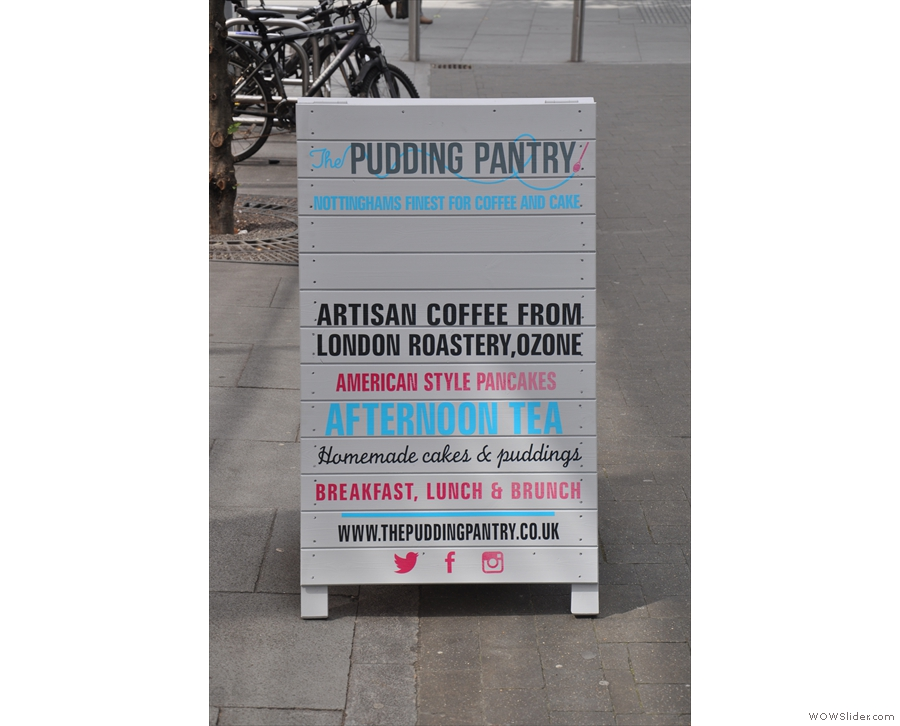 The A-board had me at 'American style pancakes'...