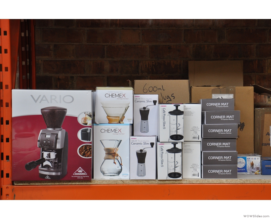However, it's not just coffee: there's plenty of coffee kit too...