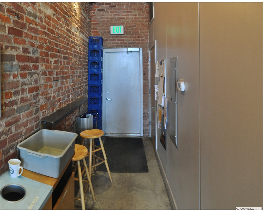 ... although it is tucked away down this little corridor beyond the counter.